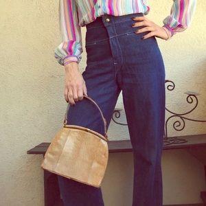 Vintage 1940s Lizard Hand Bag / Purse